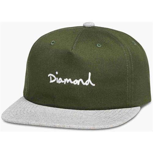 Diamond Czapka z daszkiem - og script two tone snapback olive (olv) rozmiar: os