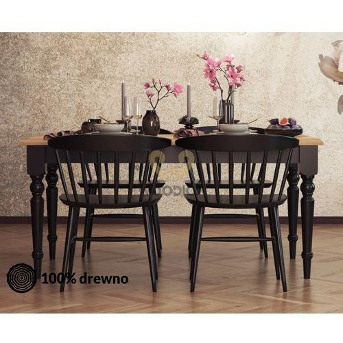 Stół nicea rozsuwany 30 dębowy 200x76x100 marki Woodica