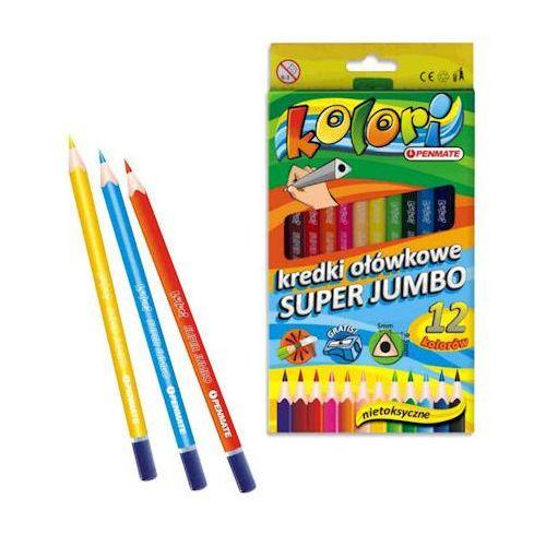Kredki ołówkowe Kredki penmate kolori jumbo trójkątne 12 kol x1