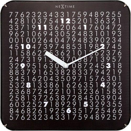 Zegar kwadratowy na ścianę Labyrinth Nextime 35 x 35 cm (3244)