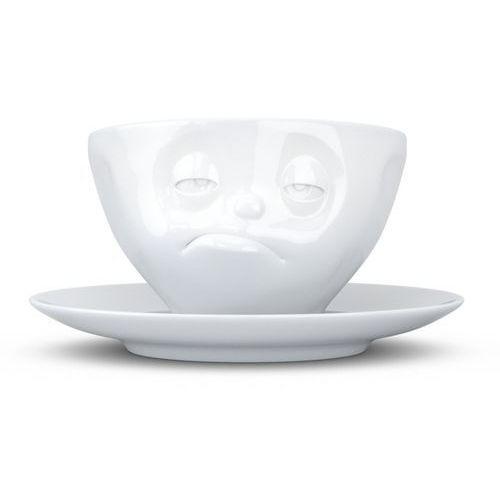 """58products - filiżanka do kawy - """"śpiący"""" - biała - 0,2 l - śpiący"""