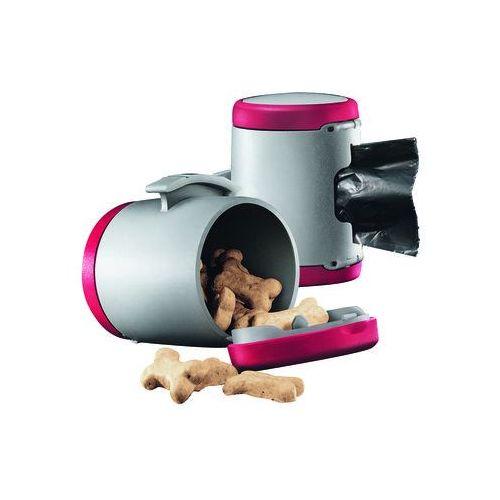 Flexi  vario multi box - pojemnik na karmę i woreczki kolor: czerwony