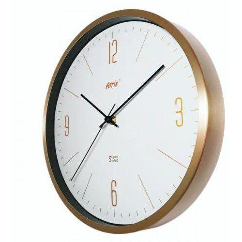 Atrix Złoty zegar aluminiowy super cichy /30cm