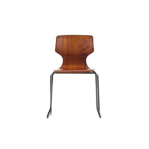 krzesło donna school drewniane brązowe 373733-b marki Woood