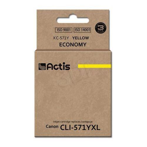 Actis kc-571y tusz żółty do drukarki canon (zamiennik canon cli-571y) standard