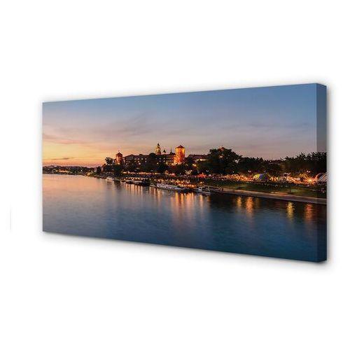 Obrazy na płótnie kraków zachód słońca rzeka zamek marki Tulup.pl