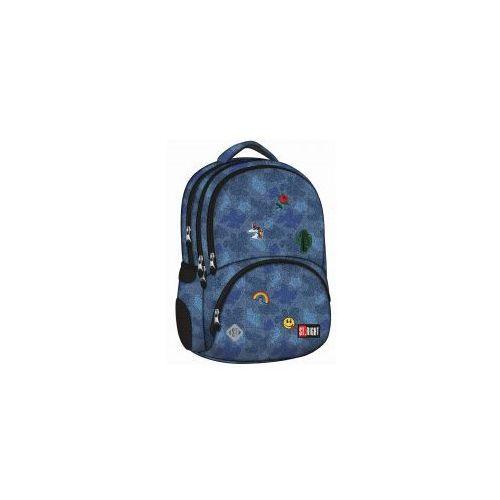 Plecak szkolny 4 komory ST.RIGHT BP07 Jeans +GRATI