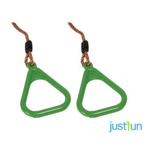 Obręcze plastikowe trójkątne - limonkowy marki Just fun
