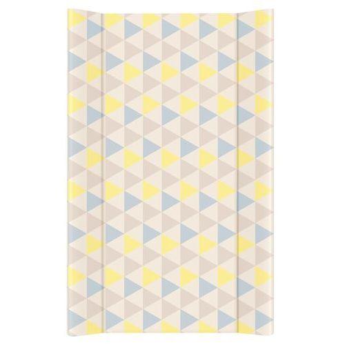 Mamo-tato przewijak na łóżeczko usztywniony 50x70 trójkąty niebiesko-żółte