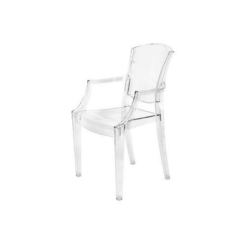 Krzesło plastikowe PEONY - bezbarwne - bezbarwny transparentny