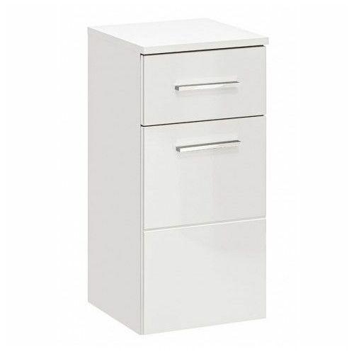 Półsłupek łazienkowy wiszący - Malaga 3X Biały połysk, TWIST-BIAŁY-810