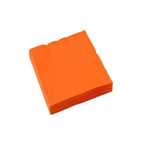 Serwetki pomarańczowe - 25 cm - 20 szt. marki Amscan