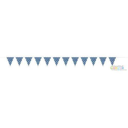 Baner flagi niebieskie w kropki - 3,65 m.