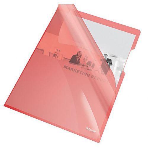 Esselte Ofertówka krystaliczna l  55433 a4/25szt.,150mic. czerwona