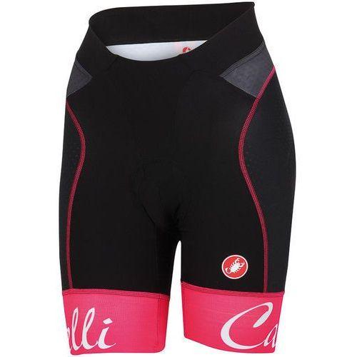 Castelli free aero spodnie rowerowe kobiety czerwony s 2018 spodnie szosowe (8055688599645)