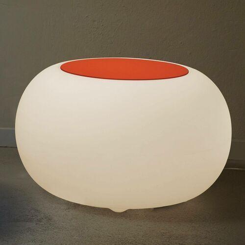 Moree Stolik bubble, białe światło i pomarańczowy filc