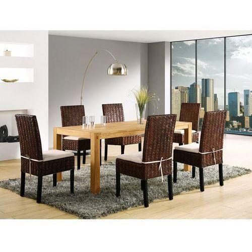 Stół do jadalni drewniany jasnobrązowy 180 x 90 cm natura marki Beliani