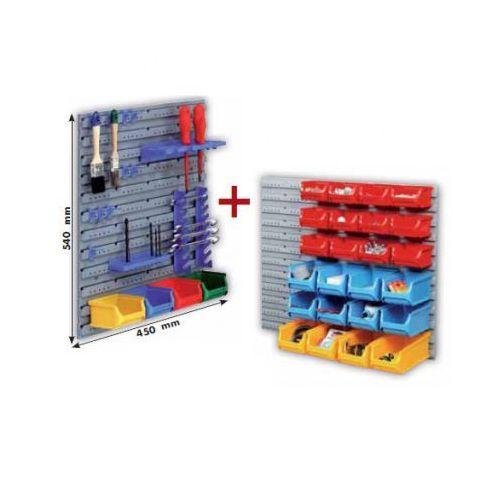 Allit Plastikowe ściany z pojemnikami i uchwytami na narzędzia