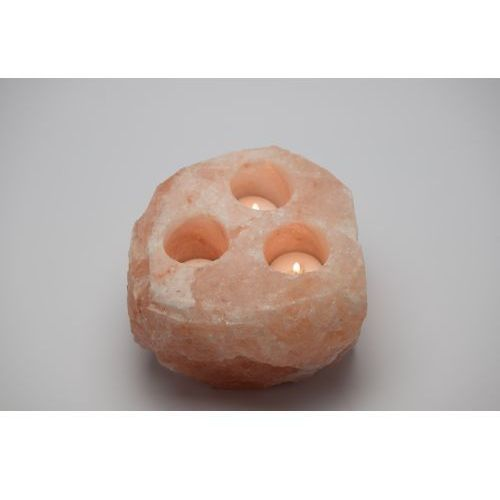 Świecznik solny naturalny na 3 świeczki marki Zdrowie natury