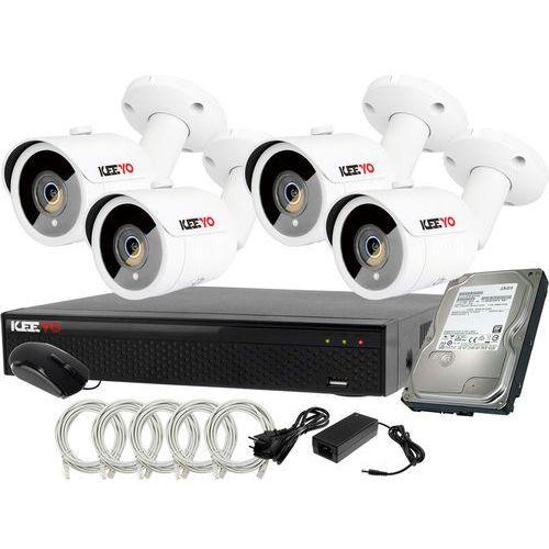 Plug&Play Zestaw do monitoringu IP Rejestrator LV-NVR4415S-4P + 4x Kamera LV-IP2M3TFE + 1TB