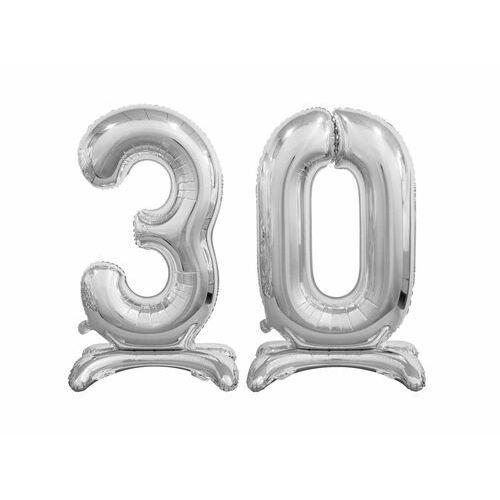 Zestaw balonów foliowych 30 srebrna - 74 cm marki Godan