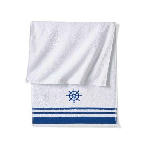 Bonprix Ręczniki z motywem koła sterowego niebieski