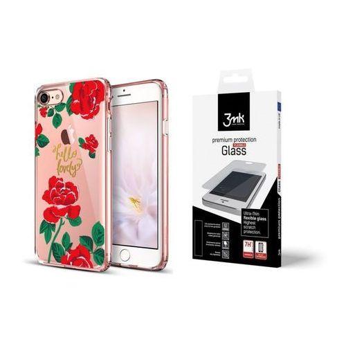 Esr Zestaw | etui art case red rose + folia 3mk flexible - iphone 7 / 8