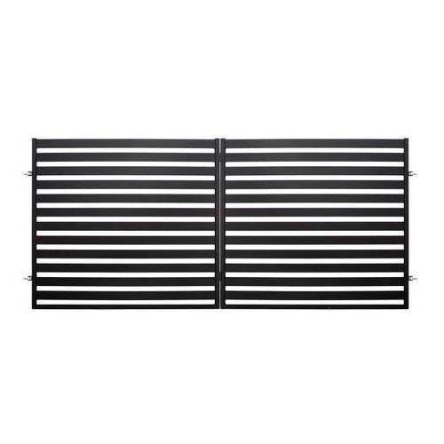 Brama dwuskrzydłowa Polbram Steel Group Lara 2 3,5 x 1,54 m czarna (5901122310433)