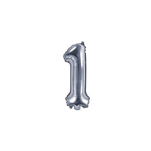 Party deco Balon foliowy cyfra 1 srebrna - 35 cm