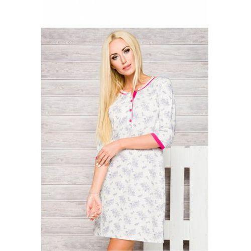 Koszula Nocna Model Fabia 2123 AW/17 K1 Fuksja, kolor różowy