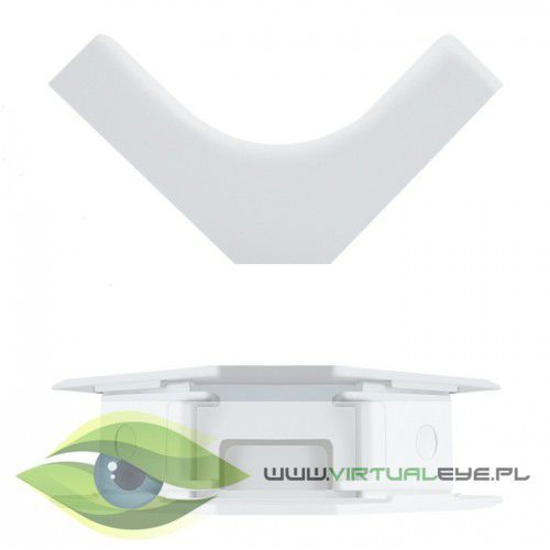 Qoltec Zaślepka na kabel | wewnętrzny narożnik | biały | 45x18mm
