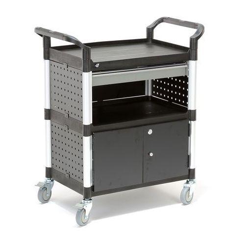 Wózek narzędziowy z szafką i szufladą, 2 półki, 850x480x1000 mm