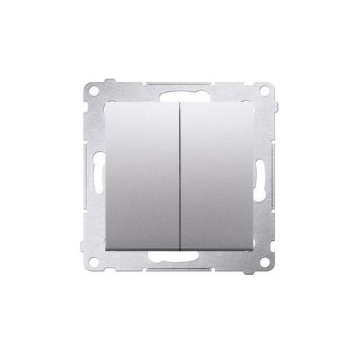 Kontakt-simon Przycisk podwójny simon 54 dp2.01/43 zwierny dwuobwodowy srebrny mat (5902787823573)