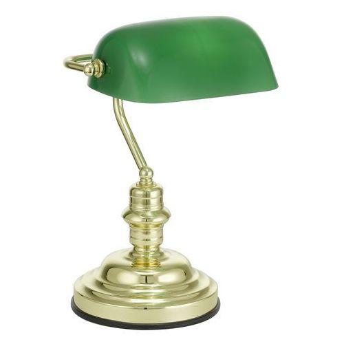 Lampa stołowa EGLO 90967, E27, 1 x 60 W, 230 V, (SxW) 27.5 cm x 39 cm, Mosiądz, Zielony, 90967