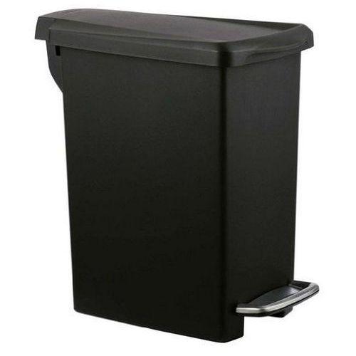 - kosz na śmieci 10l pedałowy slim - czarny marki Simplehuman