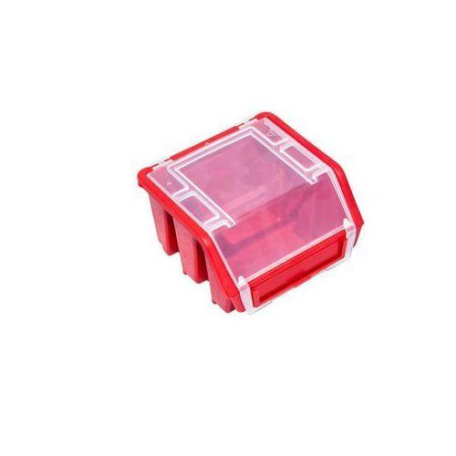 Mini Pojemnik Magazynowy Warsztatowy Ergobox 1 czerwony plus Patrol