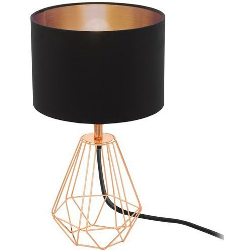 Lampa stołowa carlton 2 czarno-miedziany klosz, 95787 marki Eglo