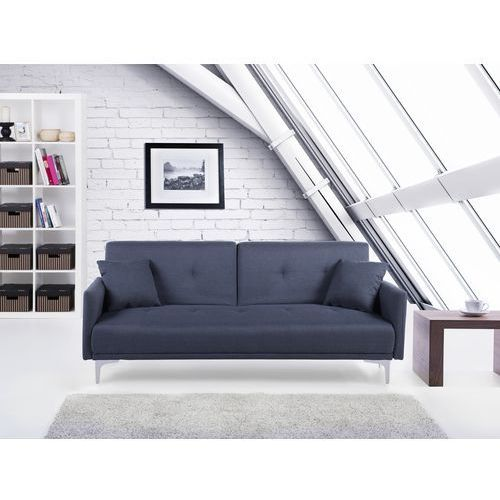 Sofa z funkcją spania szaroniebieska - kanapa rozkładana - wersalka - LUCAN - produkt z kategorii- Sofy