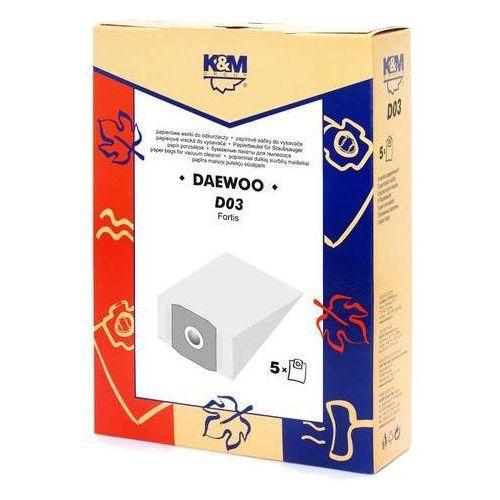 Worki do odkurzacza  d03 papierowe + zamów z dostawą jutro! marki K&m
