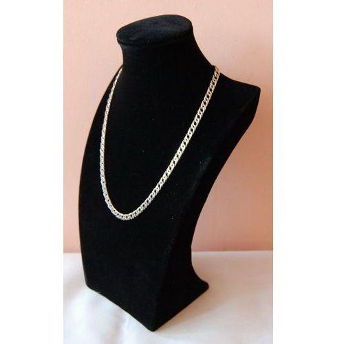 Ekspozytor do prezentacji biżuterii - popiersie zamszowe, czarne, pełne średnie, 00871