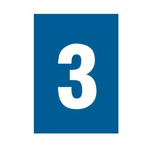 Cyfra 3 (biały/niebieski)
