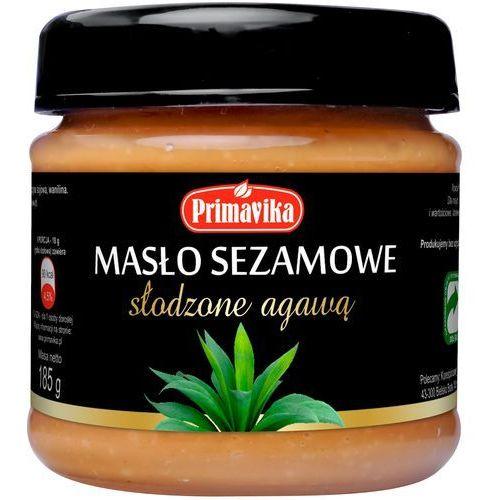 Masło sezamowe słodzone agawą 185g marki Primavika