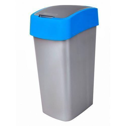 Kosz do segregacji śmieci flip bin 50l niebieski marki Curver