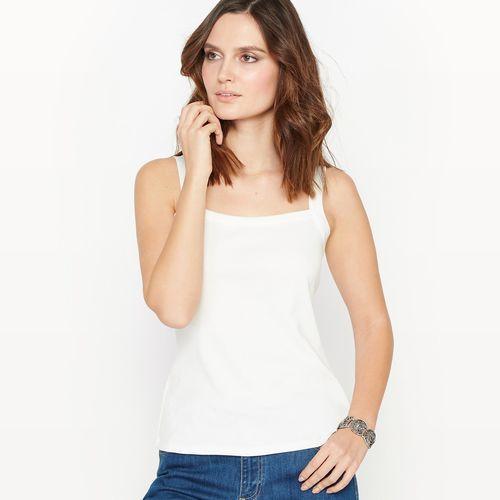 Anne weyburn Koszulka bez rękawów z czystej czesanej bawełny