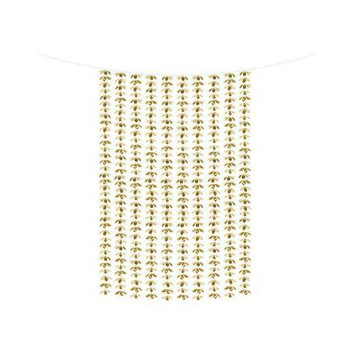 Party deco Kurtyna - zasłona na drzwi kwiatowa metaliczna złota - 100 x 210 cm (5900779107816)