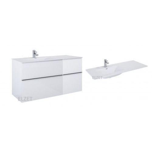 ELITA szafka Look 2S white matt + kontener z szufladami + umywalka Skappa 120 167596.167730.145915/145925