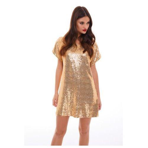 Sukienka Sagitta w kolorze złotym, w 5 rozmiarach