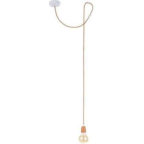 Lampa wisząca zwis edison TK Lighting Cup 1x60W E27 pomarańczowa/biała 2674 (5901780526740)