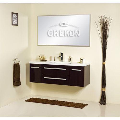 Szafka łazienkowa z umywalką 120/39/c fokus wenge połysk marki Gante