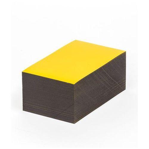 Haas Magnetyczna tablica magazynowa, żółte, wys. x szer. 50x100 mm, opak. 100 szt. za